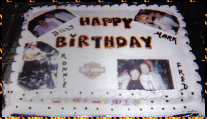 Birthday Cake Collage Imagechef : Birthday cake collarge of edible photoes (harley)