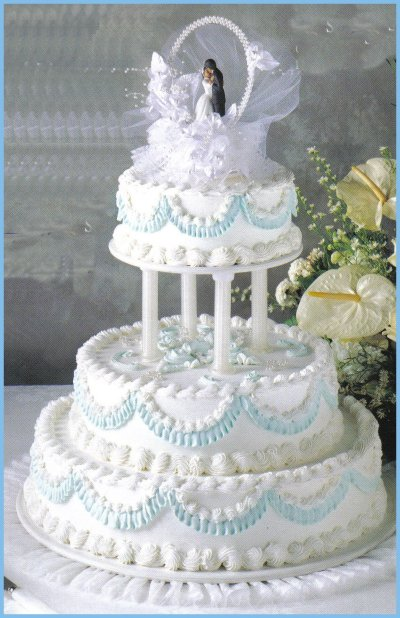 stacking wedding cakes without pillars serenade bc11 cake serves 217 with serving the top layer 20479