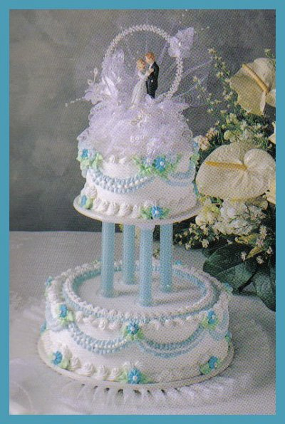 stacking wedding cakes without pillars symphony of bc 15 a cake serves 64 with serving top 20479