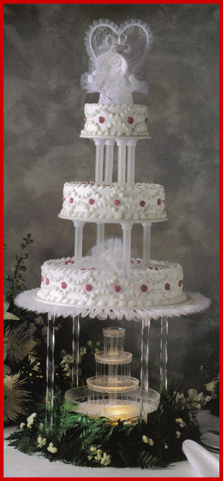 small water fountain for wedding cake of bc 26 cake serves 154 servings with top 20226